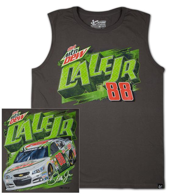 Hendrick Motorsports Dale Jr #88 Diet Mountain Dew Wedge Muscle T-shirt