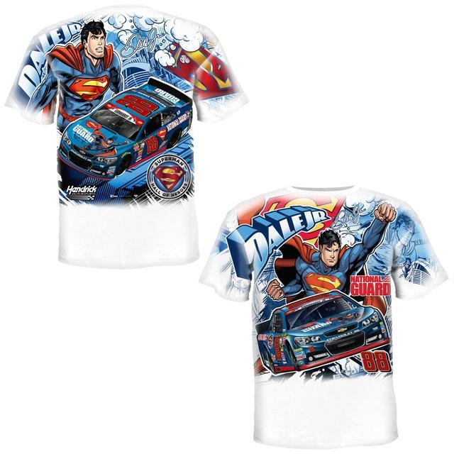 Hendrick Motorsports Dale Jr. - 2014 Youth Superman Total Print Tee