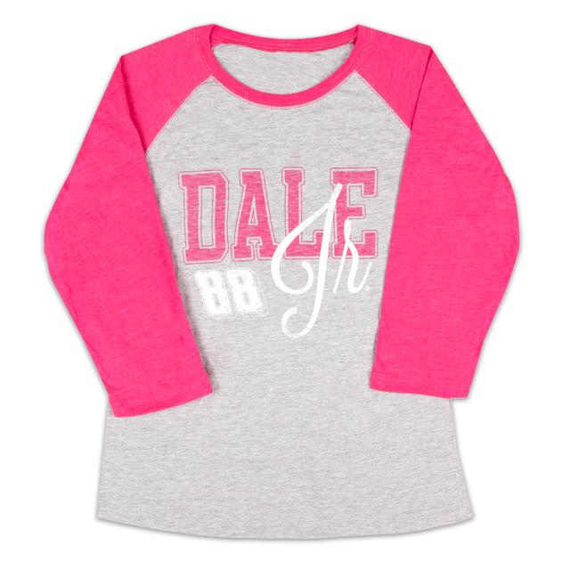 Hendrick Motorsports Dale Jr. #88 Ladies Baseball T-Shirt