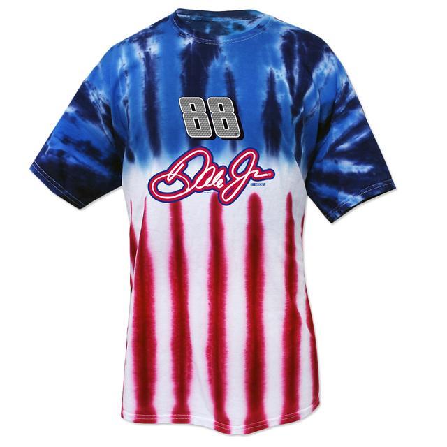 Hendrick Motorsports Dale Jr. #88 American Tye Dye T-Shirt