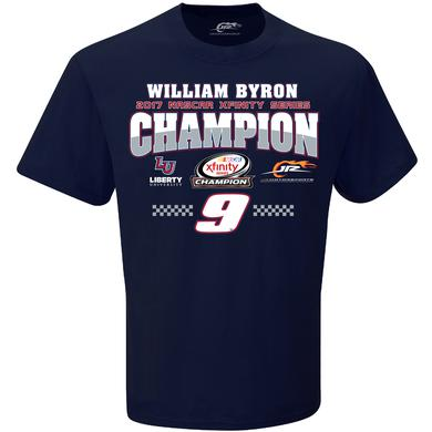 Hendrick Motorsports 2017 William Byron XFINITY Adult Championship Victory  1-spot Graphic Tee