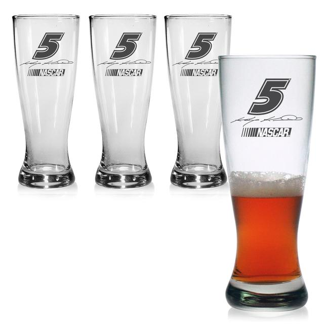 Hendrick Motorsports Kasey Kahne 20oz Pilsner Glass - Set of 4