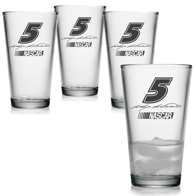 Hendrick Motorsports Kasey Kahne 16oz Pint Glass - Set of 4