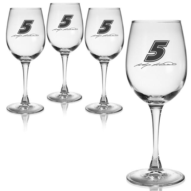 Hendrick Motorsports Kasey Kahne 12oz Wine Glass - Set of 4