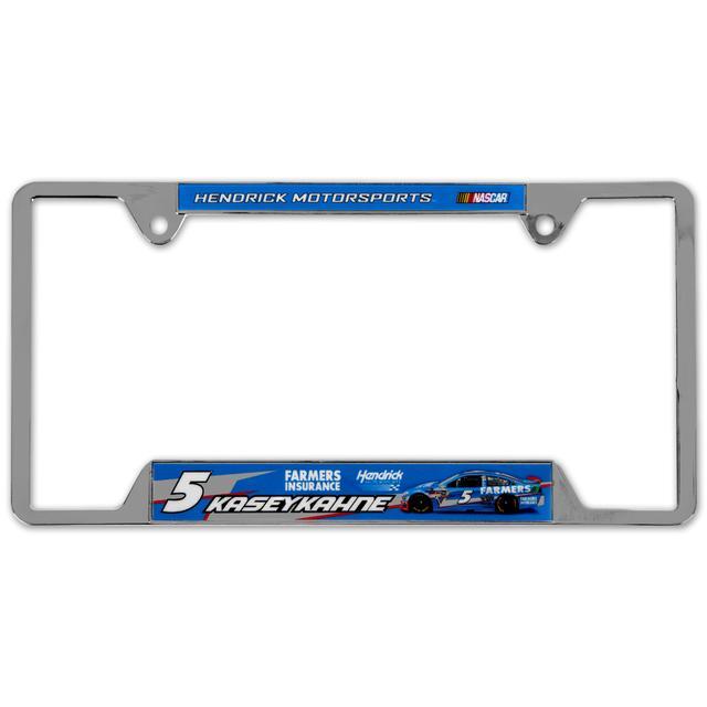 Hendrick Motorsports Kasey Kahne #5 Farmers Metal License Plate Frame