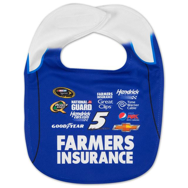 Hendrick Motorsports Kasey Kahne #5 Farmers Mesh Baby Bib