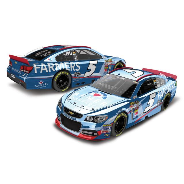 Hendrick Motorsports Kasey Kahne #5 2014 Farmers Insurance 1:24 Scale Diecast COLOR CHROME
