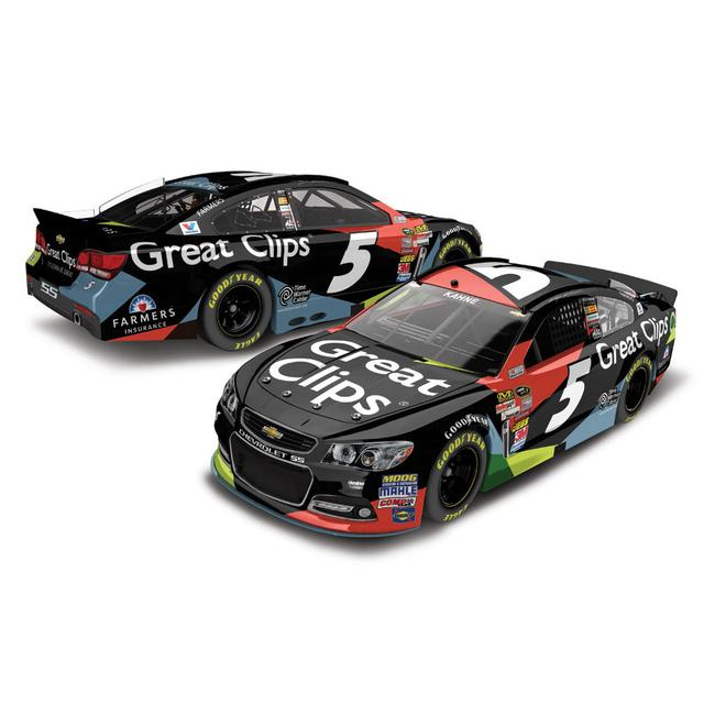 Hendrick Motorsports Kasey Kahne #5 2014 Great Clips 1:24 Scale Diecast HOTO