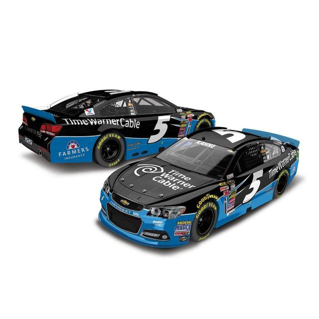 Hendrick Motorsports Kasey Kahne #5 1:24 Scale 2015 Time Warner Cable Chrome Diecast