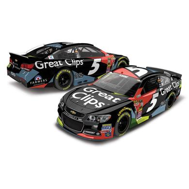Hendrick Motorsports Kasey Kahne 2015 #5 Great Clips Cable 1:24 Scale Nascar Sprint Cup Series Die-Cast