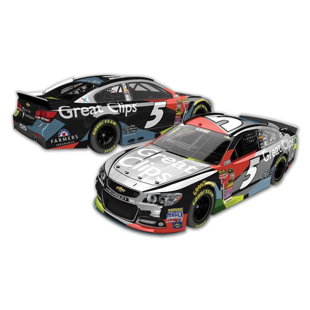 Hendrick Motorsports Kasey Kahne #5 1:24 Scale 2015 Great Clips Cable Chrome Diecast