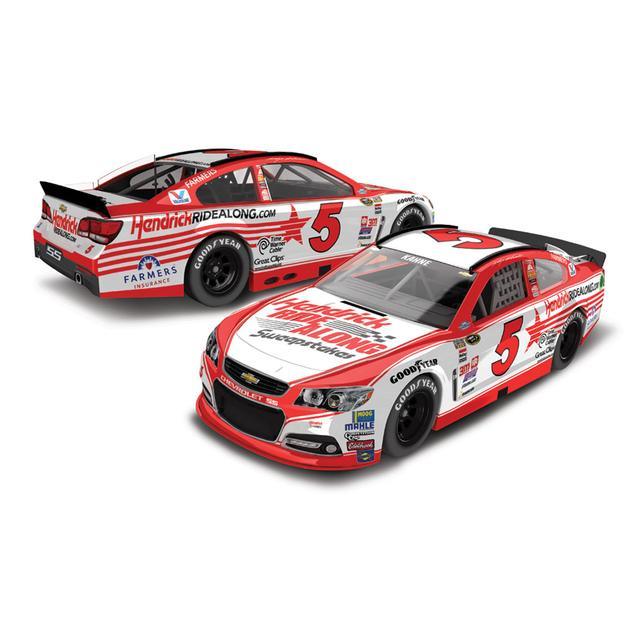 Hendrick Motorsports Kasey Kahne 2015 #5 HENDRICKRIDEALONG.COM Darlington Throwback 1:24 Scale Nascar Sprint Cup Series Die-Cast