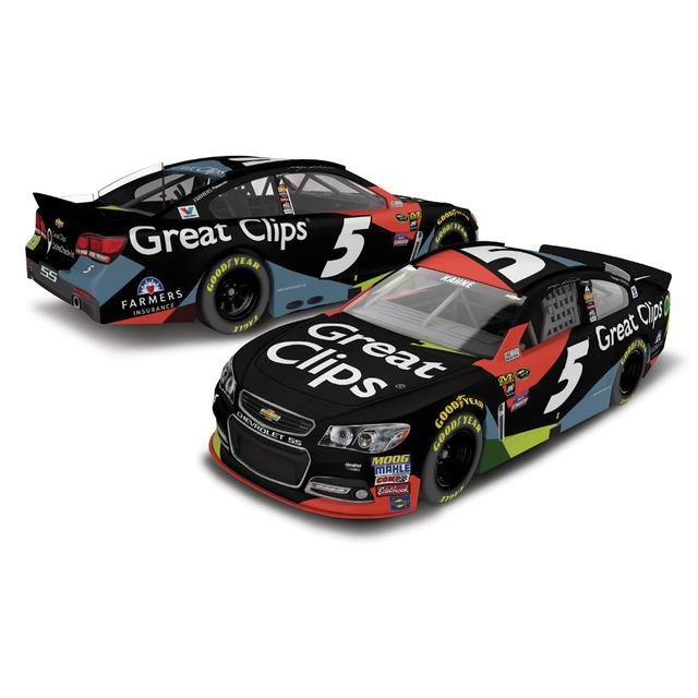 Hendrick Motorsports Kasey Kahne 2016 #5 Great Clips 1:24 Scale Nascar Sprint Cup Series Die-Cast
