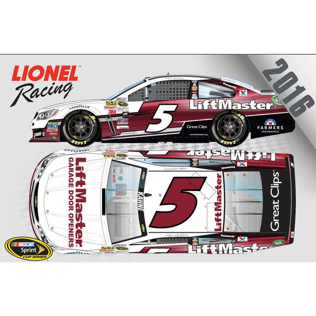 Hendrick Motorsports Kasey Kahne 2016 #5 LiftMaster 1:64 Nascar Sprint Cup Series Scale Die-Cast