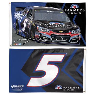 Hendrick Motorsports Kasey Kahne #5 Flag 2 Sided 3' x 5'  Flag