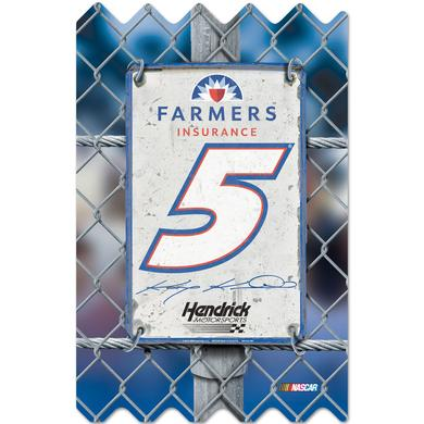 "Hendrick Motorsports Kasey Kahne #5 Wood Fence 11"" x 17"""