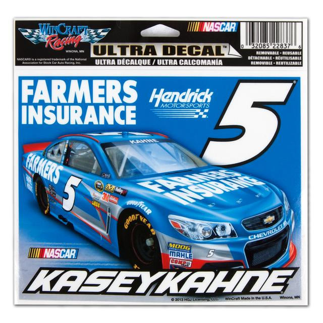 "Hendrick Motorsports Kasey Kahne #5 Farmers 5x6"" Color Ultra Decal"