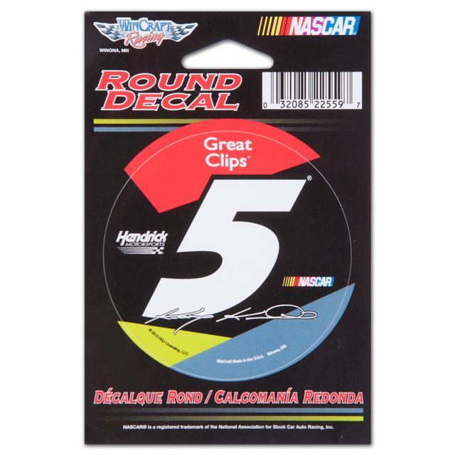 "Hendrick Motorsports Kasey Kahne-2014 3'"" round decal"