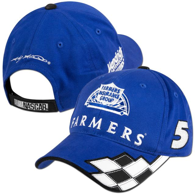 Hendrick Motorsports Kasey Kahne #5 Farmers Checkered Adjustible Hat
