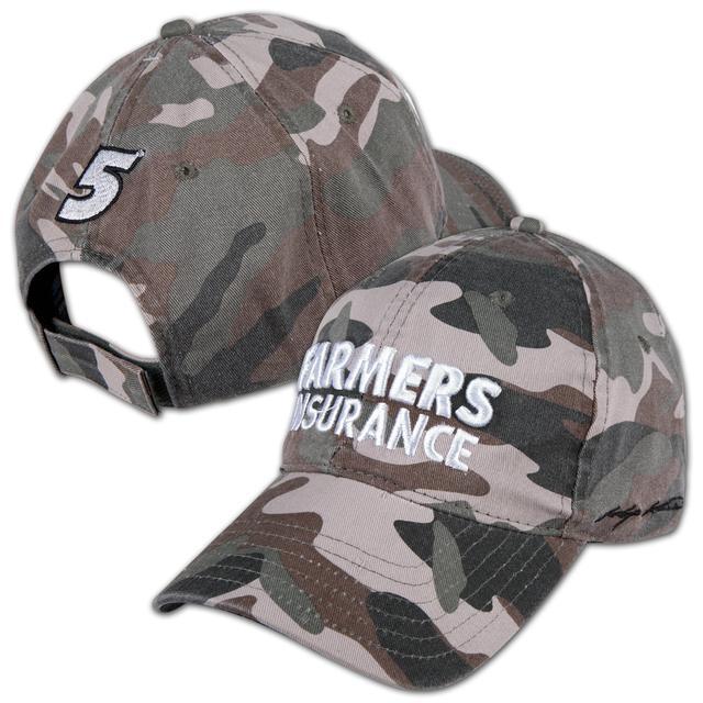 Hendrick Motorsports Kasey Kahne #5 Farmers Salute Camo Hat