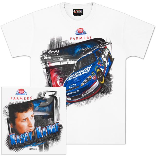 Hendrick Motorsports Kasey Kahne #5 Farmers Insurance Draft T-shirt