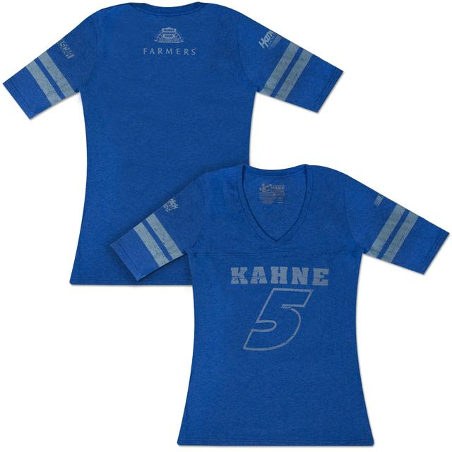 Hendrick Motorsports Kasey Kahne #5 Farmers Ladies Varsity 3/4 T-shirt