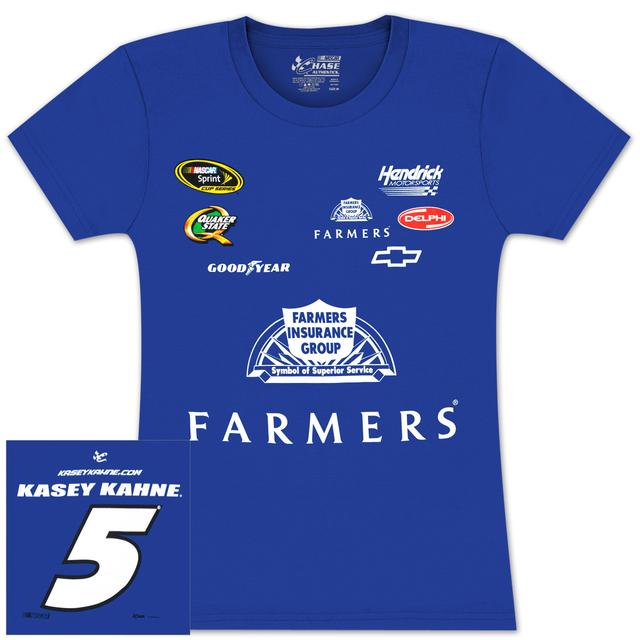 Hendrick Motorsports Kasey Kahne Farmers Ladies Uniform T-shirt