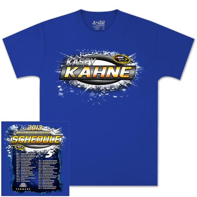 Hendrick Motorsports Kasey Kahne Farmers Schedule T-shirt