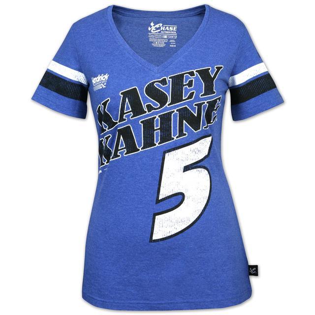 Hendrick Motorsports Kasey Kahne Varsity Football Ladies V-Neck Jersey Tee