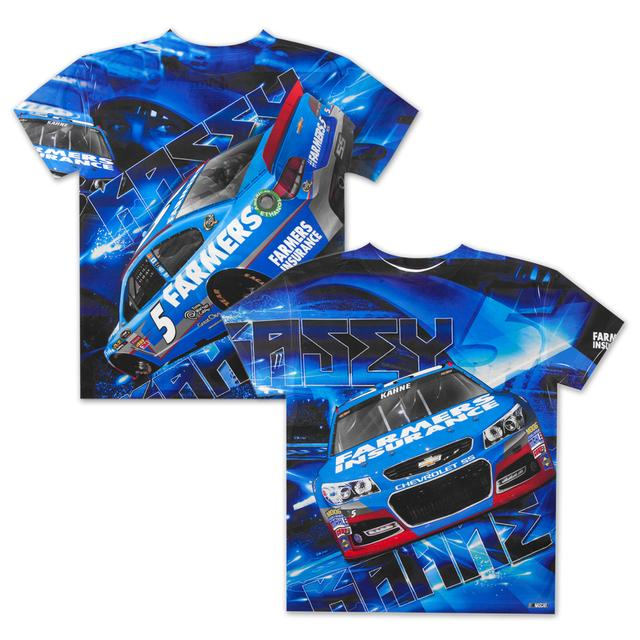 Hendrick Motorsports Kasey Kahne #5 Farmers Youth Aerodynamic Sublimated T-shirt