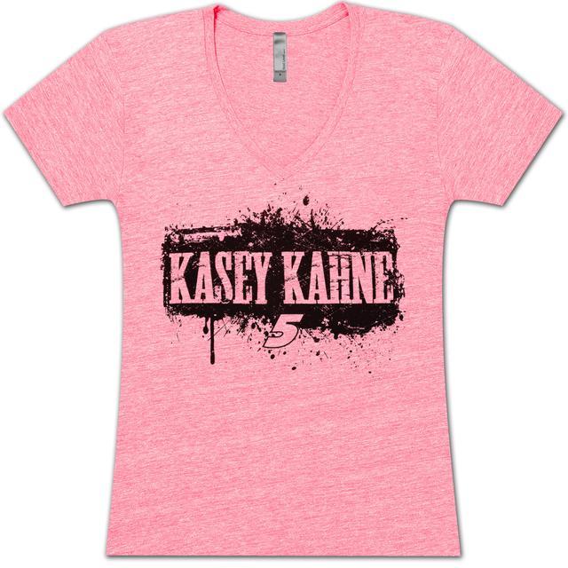 Hendrick Motorsports Kasey Kahne #5 Ladies Pink Hot V Tee
