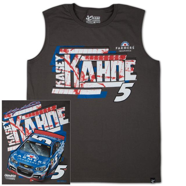 Hendrick Motorsports Kasey Kahne #5 Farmers Wedge Muscle T-shirt
