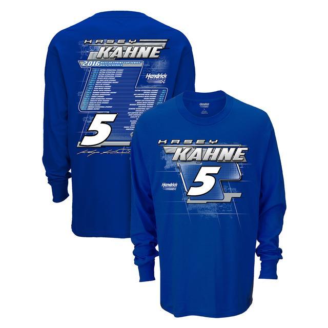 Hendrick Motorsports Kasey Kahne #5 2016 L/S Schedule T-Shirt