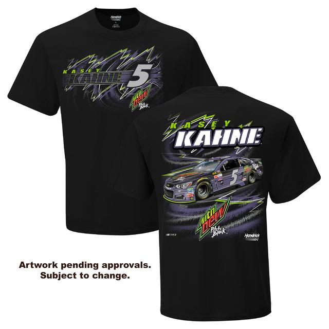 Hendrick Motorsports Kasey Kahne #5  Mountain Dew Pitch Black T-Shirt