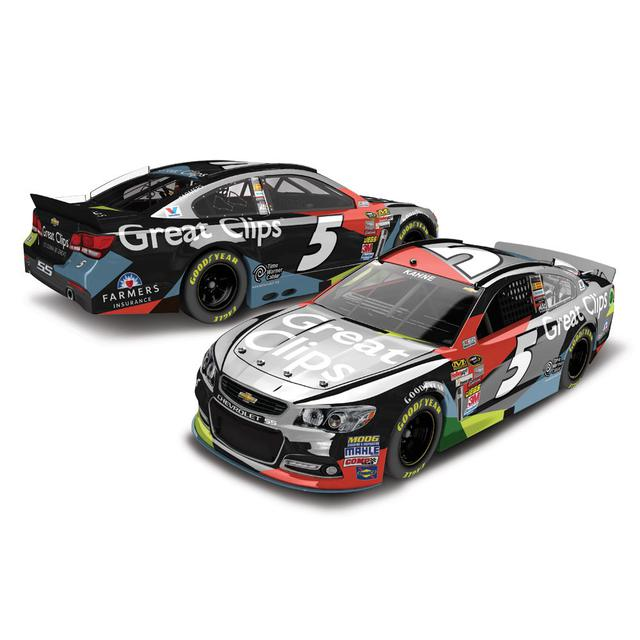 Hendrick Motorsports Kasey Kahne #5 2014 Great Clips 1:24 Scale Diecast COLOR CHROME
