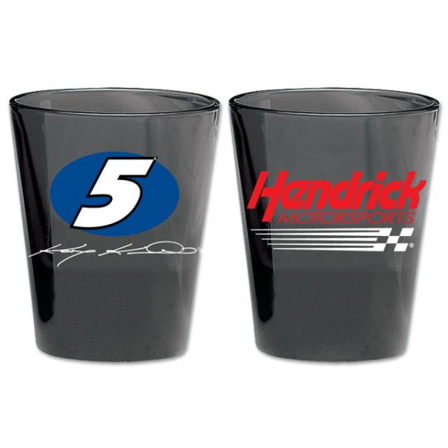 Hendrick Motorsports #5 2oz Black Shot Glass
