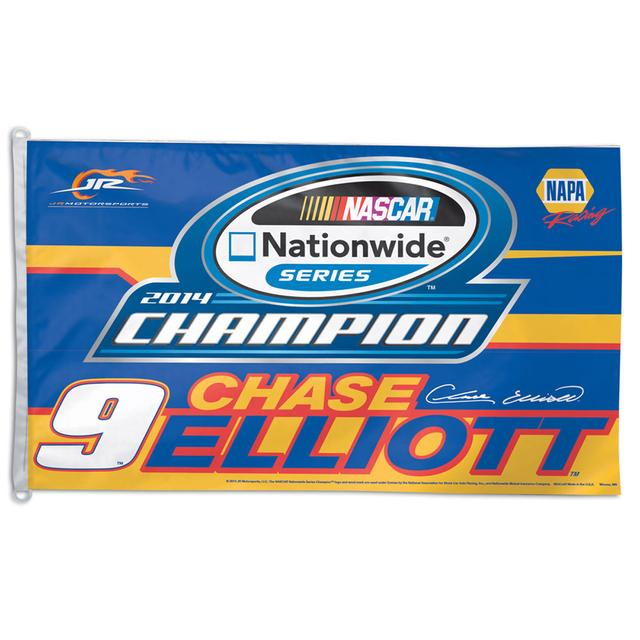 Hendrick Motorsports Chase Elliott 2014 Nationwide Series Champ Flag 3' x 5'