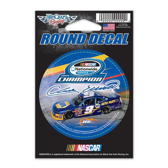 Hendrick Motorsports Chase Elliott 2014 Nationwide Series Champ Round Decal 3""