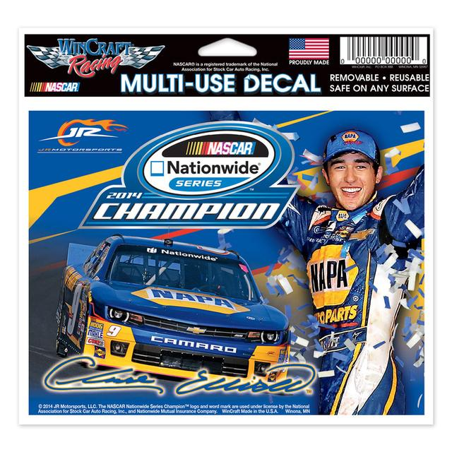 "Hendrick Motorsports Chase Elliott 2014 Nationwide Series Champ Multi-Use Decal 4.5"" x 6"""