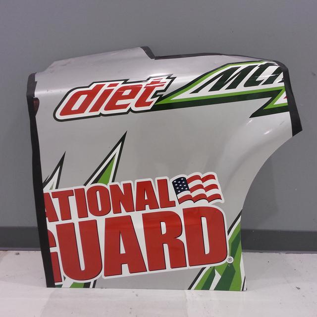 Hendrick Motorsports Dale Jr #88 2014 Diet Mtn Dew Rear Qtr Panel
