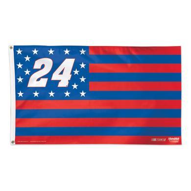 Hendrick Motorsports Chase Elliott #24 Stars and Stripes 3' X 5' Deluxe Flag