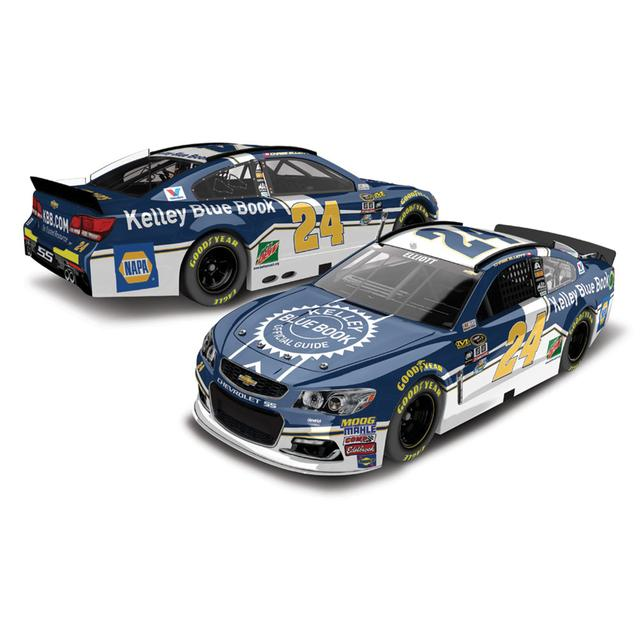 Hendrick Motorsports Chase Elliott 2016 #24 Kelly Blue Book 1:64 Scale Nascar Sprint Cup Series Die-Cast