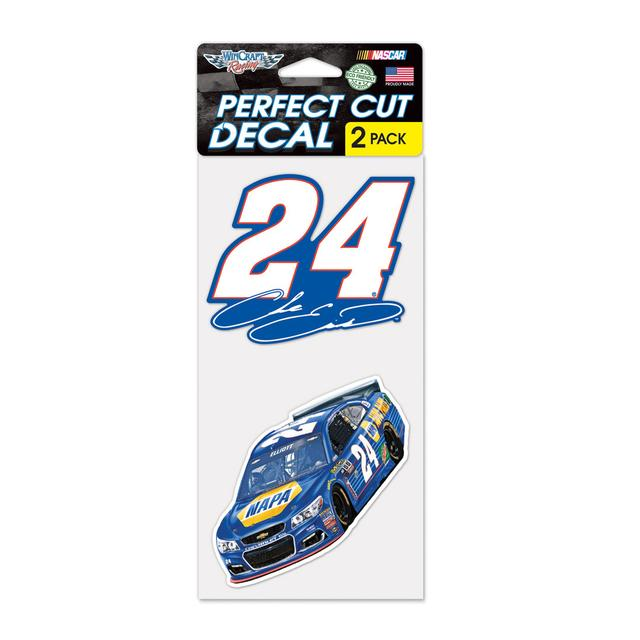 "Hendrick Motorsports Chase Elliott #24 Perfect Cut Decal set of Two 4"" x 4"""