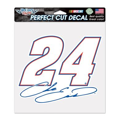 "Hendrick Motorsports Chase Elliott #24 Perfect Cut Color Decal 8"" x 8"""