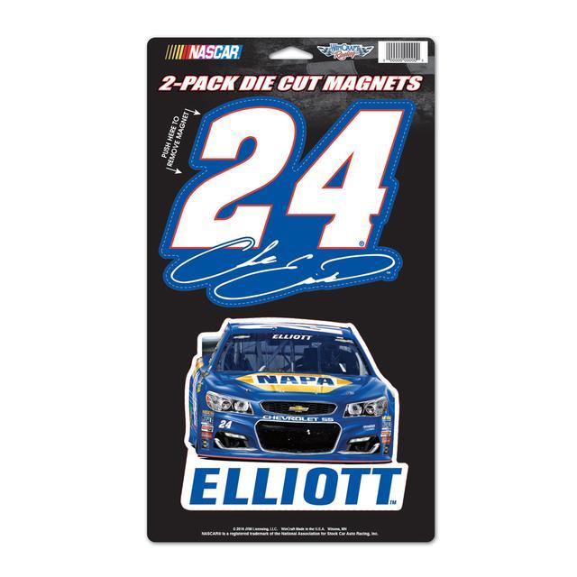 "Hendrick Motorsports Chase Elliott #24 2 Pack Magnets 5"" x 9"""