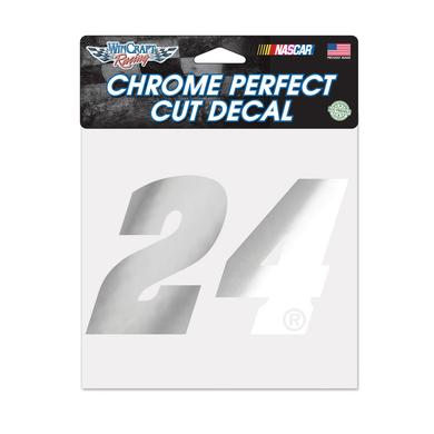 "Hendrick Motorsports Chase Elliott #24 Chrome Perfect Cut Decal 6"" x 6"""