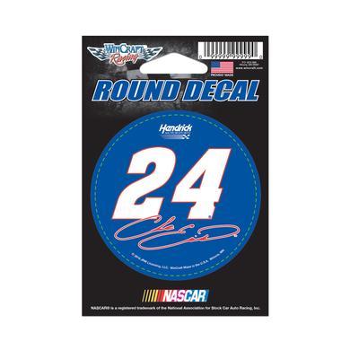 """Hendrick Motorsports Chase Elliott #24 Round Vinyl Decal 3"""" x 3"""""""