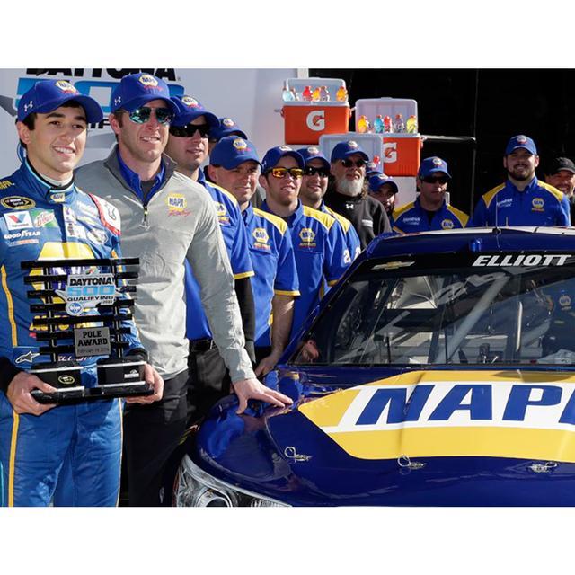 Hendrick Motorsports Chase Elliott #24 Signed Daytona 500 Pole Award 1:24 Scale Nascar Sprint Cup Series 2016 Die-Cast