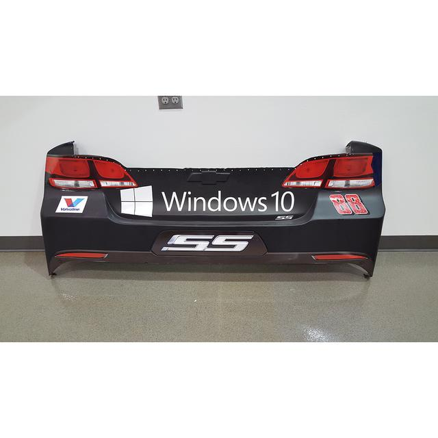 Hendrick Motorsports Race Used Microsoft Windows 10 Rear Bumper - Pocono 8/2/15