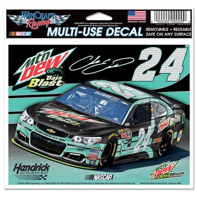 "Hendrick Motorsports Chase Elliott #24 Mountain Dew Baja Blast 5"" x 6""Multi-Use Decal"